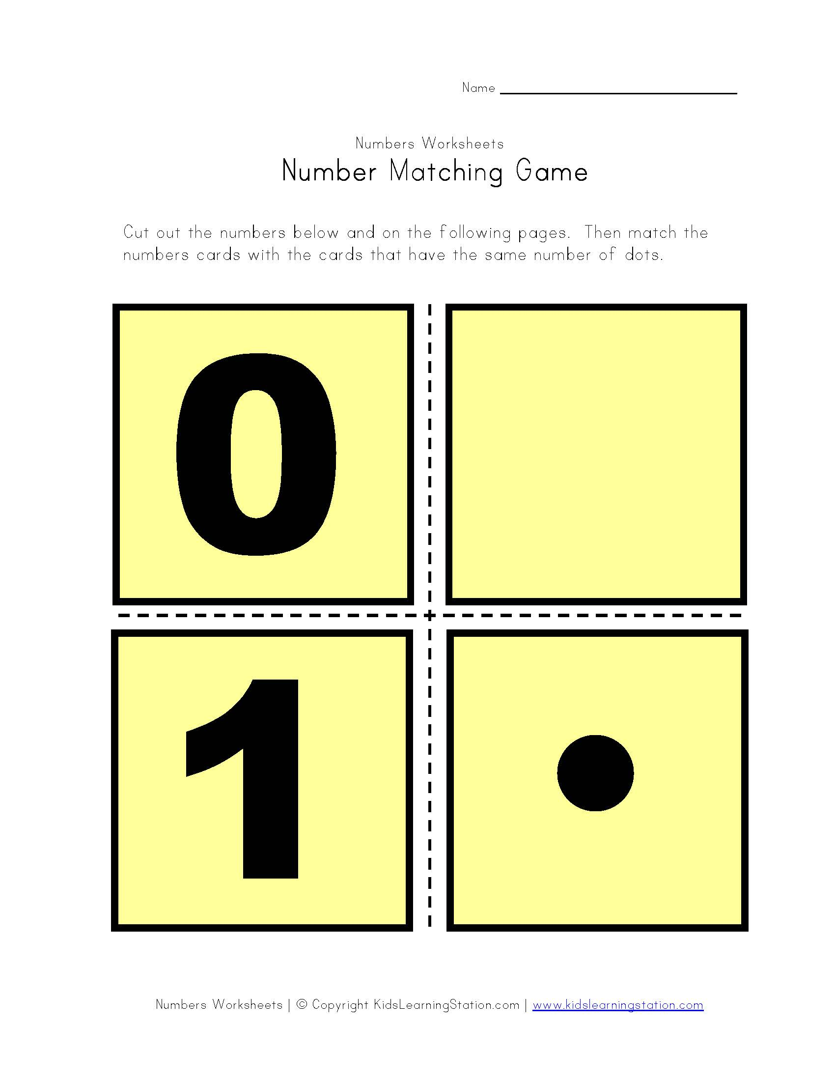 number-matching-game